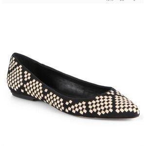 Rebecca Minkoff Idelle Black/ White Leather Flats